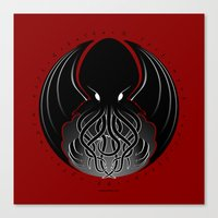 cthulhu Canvas Prints featuring Cthulhu by tuditees