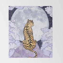 Tiger Moon   Colour Version Throw Blanket