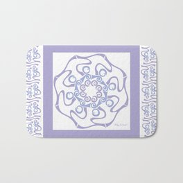 Hope Mandala with Border - Lavender White Bath Mat