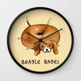 Beagle Bagel Wall Clock