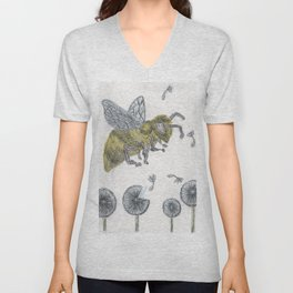 Bee Happy 2 Unisex V-Neck