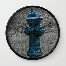 Iowa Fire Hydrant Green Fire Plug  Wall Clock