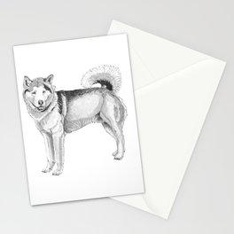 Alaskan malamute Stationery Cards
