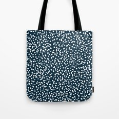 Navy Dots abstract minimal print design pattern brushstrokes painterly painting love boho urban chic Tote Bag