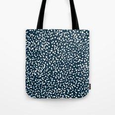 Navy Dots abstract minimal print design pattern brushstrokes painterly painting love boho urban chic Tote Bag
