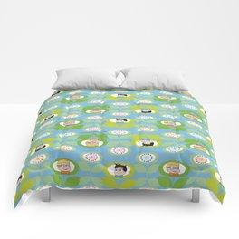 mabo & jimmy garden - blue Comforters
