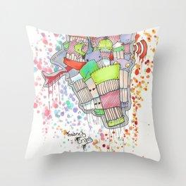 Insanely Crazy Throw Pillow