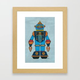 top-bot by Nettwork2Design - nettie heron-middleton Framed Art Print