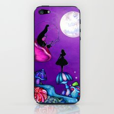 Alice in Wonderland and Caterpillar iPhone & iPod Skin