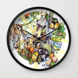Des Plumes Dans Mon Assiette Wall Clock