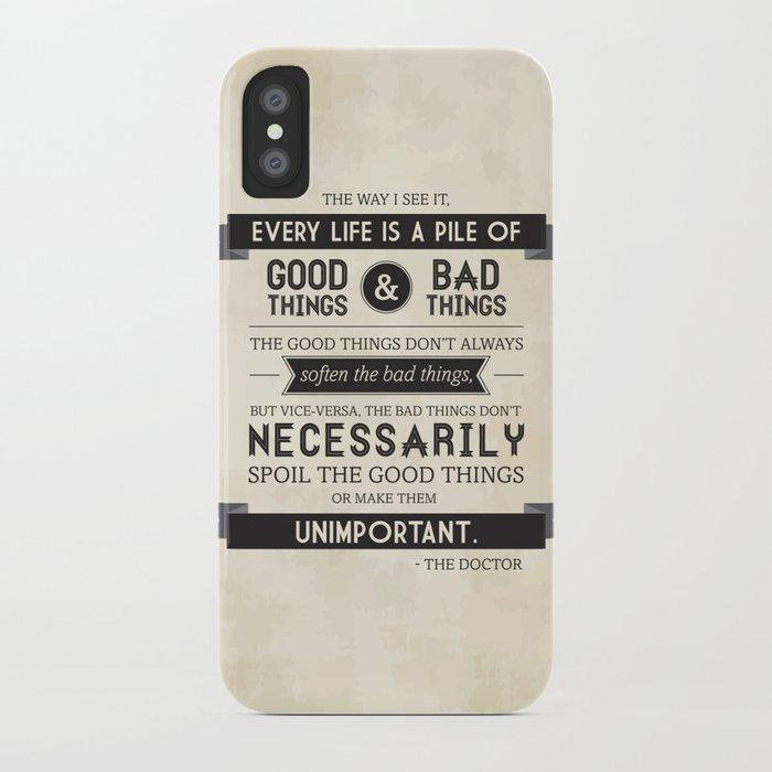 Good Things & Bad Things iPhone Case