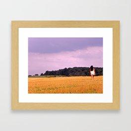 Soy Bean Fields Framed Art Print