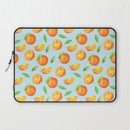 Watercolor Oranges Pattern 3 Laptop Sleeve