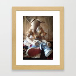 Miss Mouse has New Shoes! Framed Art Print
