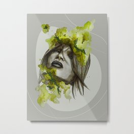 Eva by carographic, Carolyn Mielke Metal Print