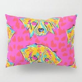 Bright Dog Pattern   Pink Pillow Sham