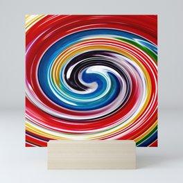 Lollipop Swirls - Rainbow Mini Art Print