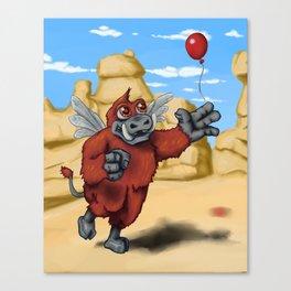 Monster of the Week: Winged Boar Demon Canvas Print