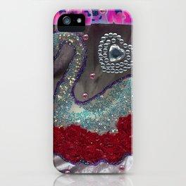 HAKUCHOU IN THE ROSE GARDEN iPhone Case