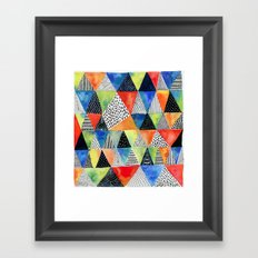Doodled Geometry Framed Art Print