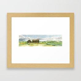 Prairie Buildings Framed Art Print