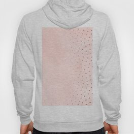Rose Gold Pastel Pink Foil Paint Line Dots XXIII Hoody