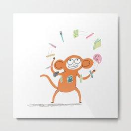 Artist Monkey Metal Print