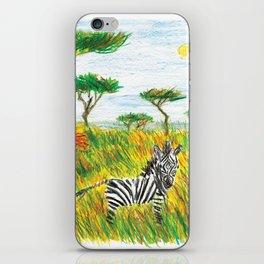 Careless zebra iPhone Skin
