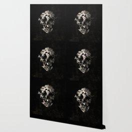 Spring Skull Monochrome Wallpaper