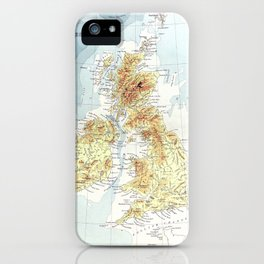 Gazetteer of the British Isles, statistical and topographical (1887) by John Bartholomew. iPhone Case