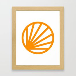 Circle dissected Framed Art Print