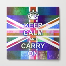 Keep Calm and Carry On Abstract Metal Print