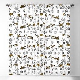 Jack Russell Terrier Dog Cartoon Blackout Curtain