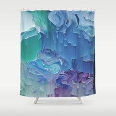 Delicate Deconstruction Shower Curtain
