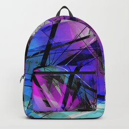 Lines of Departure - Futuristic Geometric Abstract Art Backpack