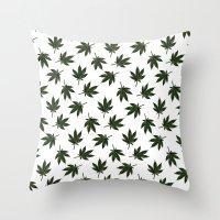 cannabis Throw Pillows featuring Cannabis by WeedPornDaily