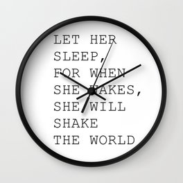 Let her sleep Wall Clock