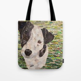 Lily on Green Background Tote Bag