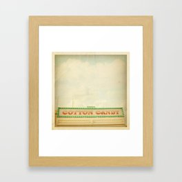 Cotton Candy Stand Framed Art Print