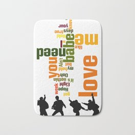 Song typography. All you need is love. Bath Mat