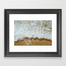 Sparkling ocean Framed Art Print