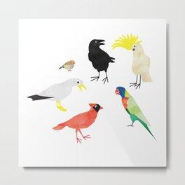 Bird Meeting Metal Print