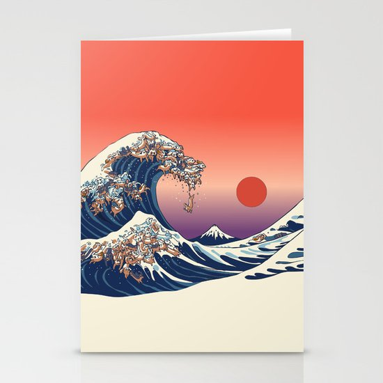 The Great Wave of Dachshunds by huebucket