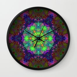 Fission Flower Wall Clock