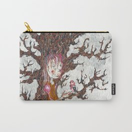 Robin in the Rain Carry-All Pouch