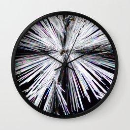 Cadmium Chloride Crystals Wall Clock