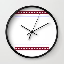 BBQ Beer Freedom USA America 2020 American Men design Wall Clock