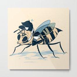 Polly Pollinator  Metal Print