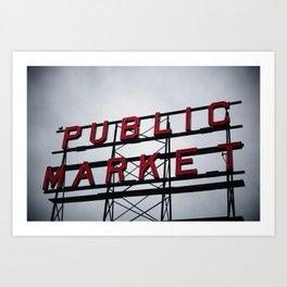 Public Market - Seattle Art Print