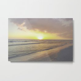Soft Waves Metal Print